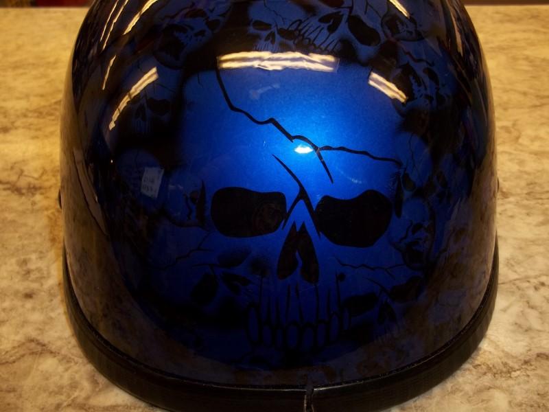 BLUE SKULL HELMET