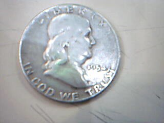 UNITED STATES Silver Coin 1954 FRANKLIN HALF DOLLAR