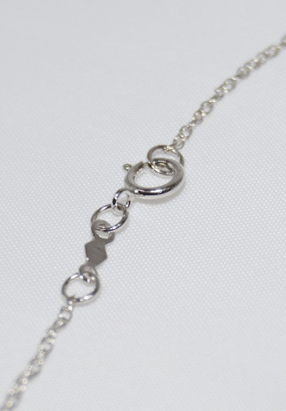 Sterling Silver Diamond Necklace w/ Heart Pendant