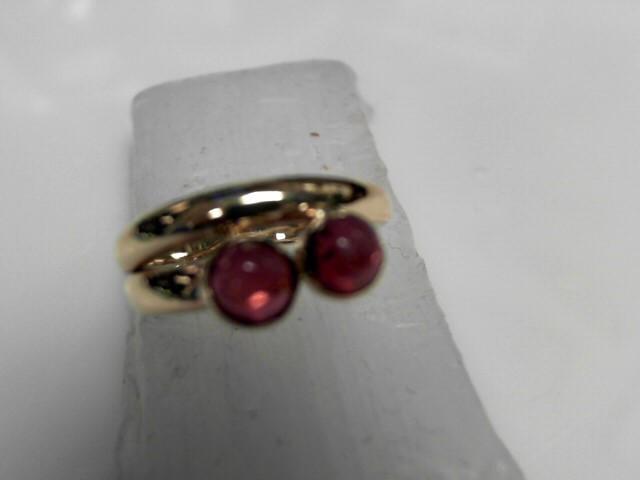 Star Ruby Ring 10K Yellow Gold 4g