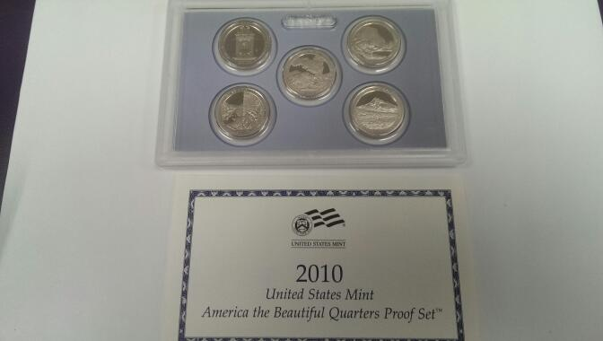 UNITED STATES 2010 AMERICAN THE BEAUTIFUL QUARTER PROOF SET
