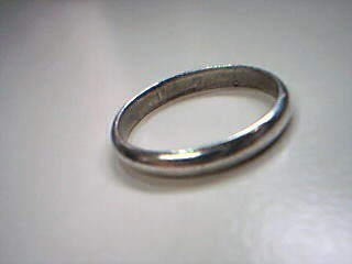 Lady's Silver Wedding Band 925 Silver 1.6g Size:7.3