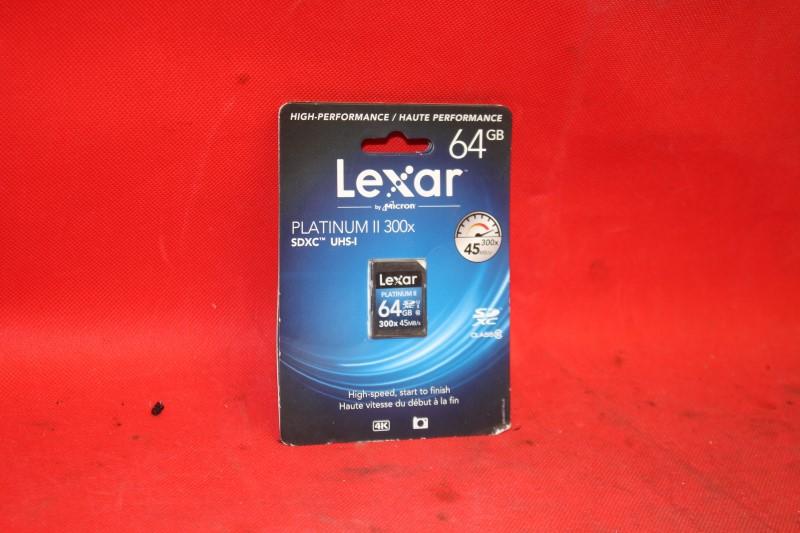 Lexar 64GB PLATINUM II 300x SDXC UHS-I Card 45MB/s