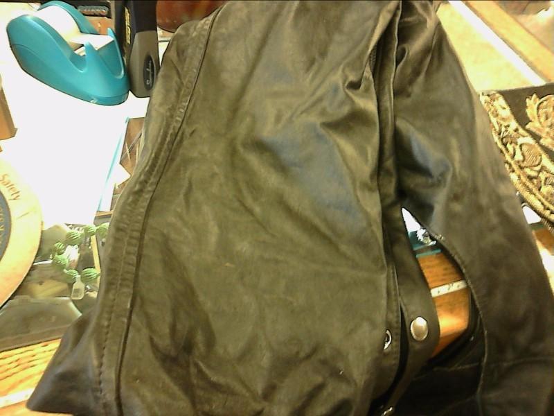 Coat/Jacket BLACK LEATHER CHAPS