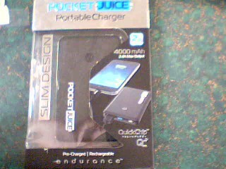 POCKET JUICE IPOD/MP3 Accessory PORTABLE CHARGER 12000 MAH