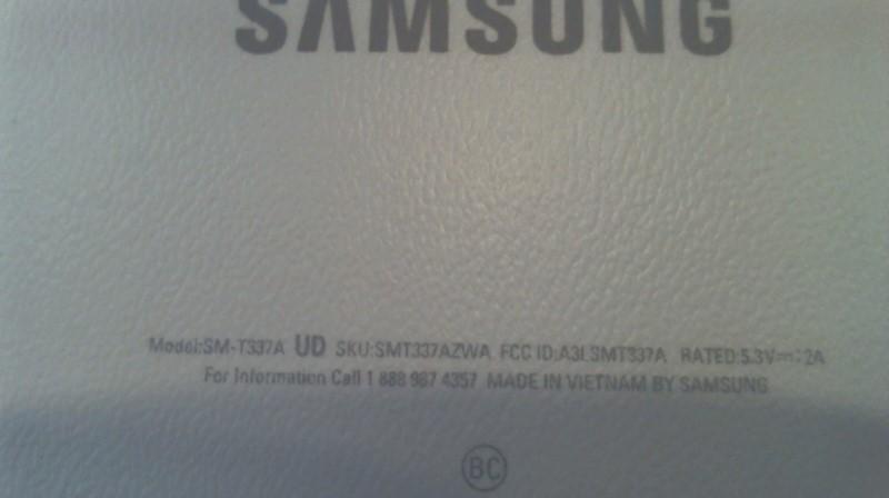 SAMSUNG Tablet SM-T337A