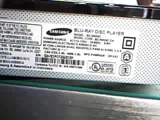 SAMSUNG Blu-Ray Player BD-HM59C