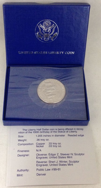 1886-1986 United States Liberty Half Dollar Coin