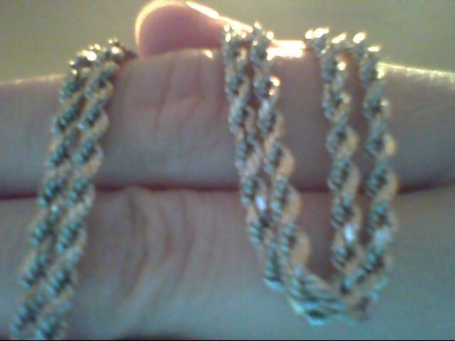 Gold Rope Chain 14K White Gold 5.1g