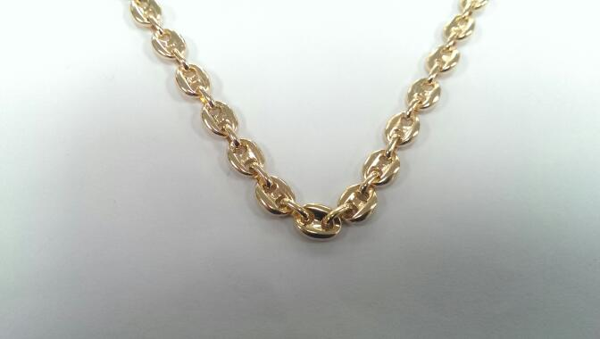 "19"" Gold Anchor Chain 18K Yellow Gold 40.6g"