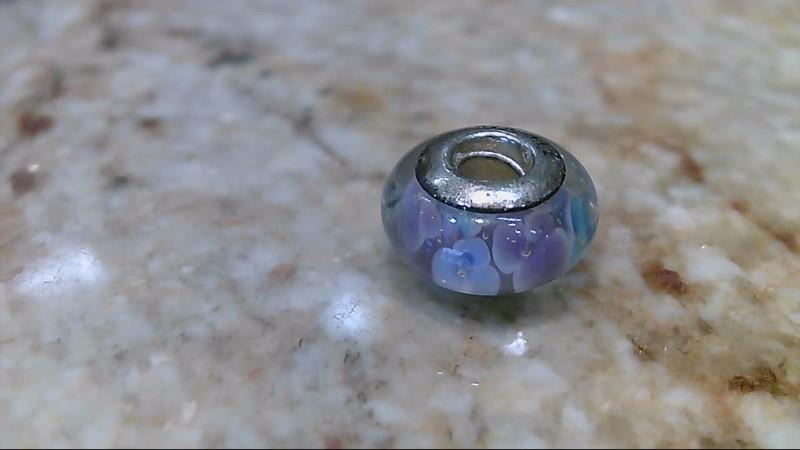 Pandora Lavender Flower Garden Murano Glass Bead #791652