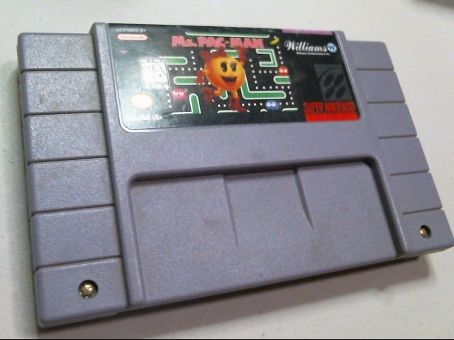 NINTENDO SNES GAME: MS. PAC-MAN