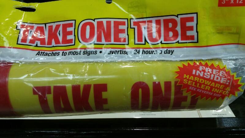 HY-KO TAKE ONE TUBE TAKE ONE TUBE