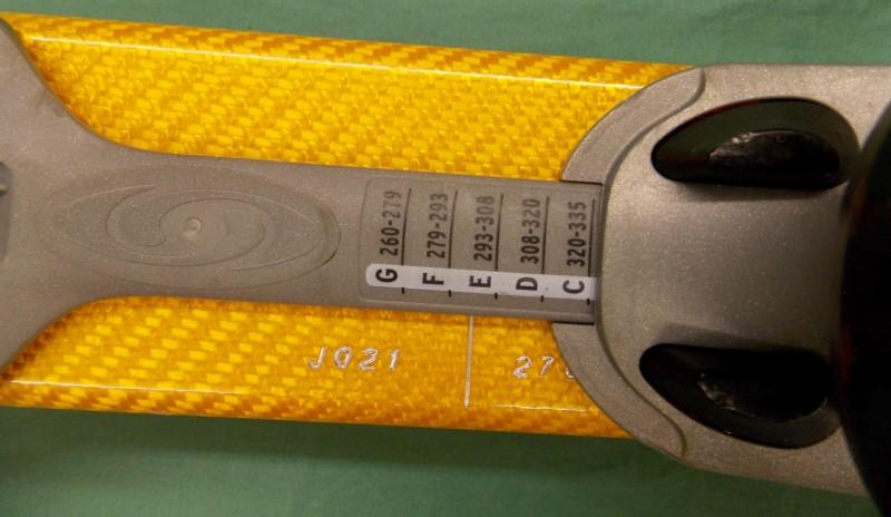 2001 SALOMON X SCREAM SERIES 187CM WITH SALOMON S180 BINDINGS AND CARRYING BAG
