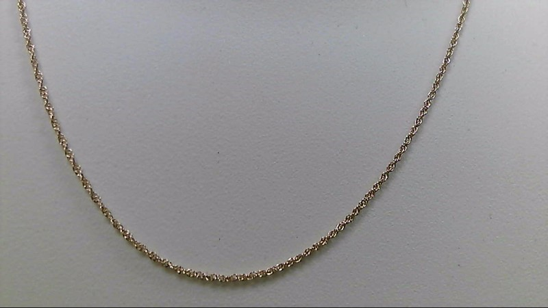 "24"" Gold Rope Chain 14K Yellow Gold 1.9g"