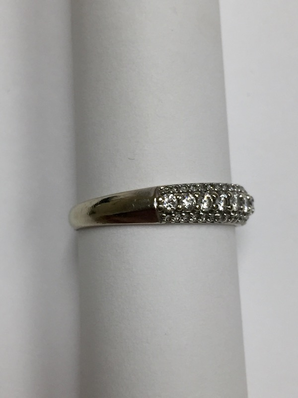 Lady's Diamond Wedding Band 56 Diamonds .80 Carat T.W. 14K White Gold 2dwt