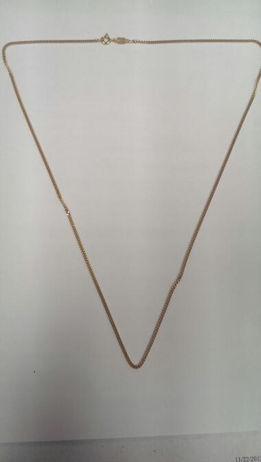 "24"" Gold Chain 18K Yellow Gold 9.5g"