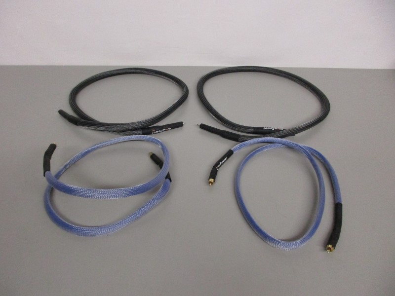 LOT OF FOUR (4) GLOW POWER USA RCA CABLES