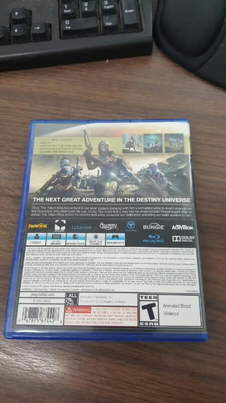 Destiny: The Taken King - Legendary Edition (Sony PlayStation 4, 2015) PS44