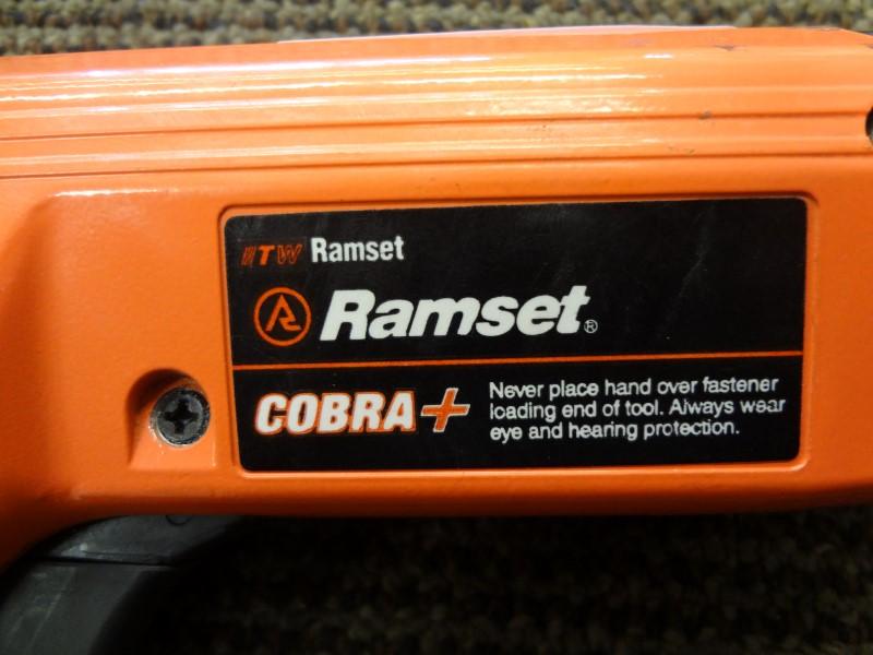 RAMSET COBRA+ POWDER ACTUATED GUN, SEMI AUTO, 27 CALIBER