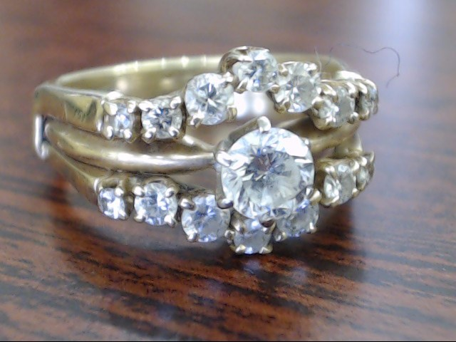 Lady's Diamond Wedding Set 15 Diamonds .75 Carat T.W. 14K Yellow Gold 4.7g