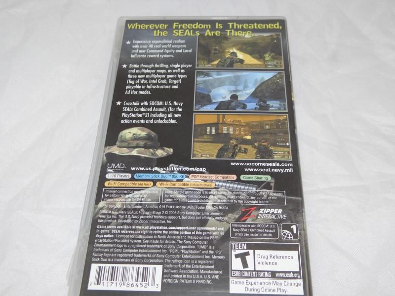 PSP PlayStation SOCOM: U.S. Navy SEALs  Fireteam Bravo 2 Complete