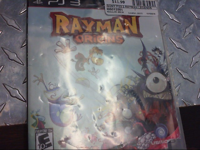 SONY PS3 3 RAYMAN LEGENDS