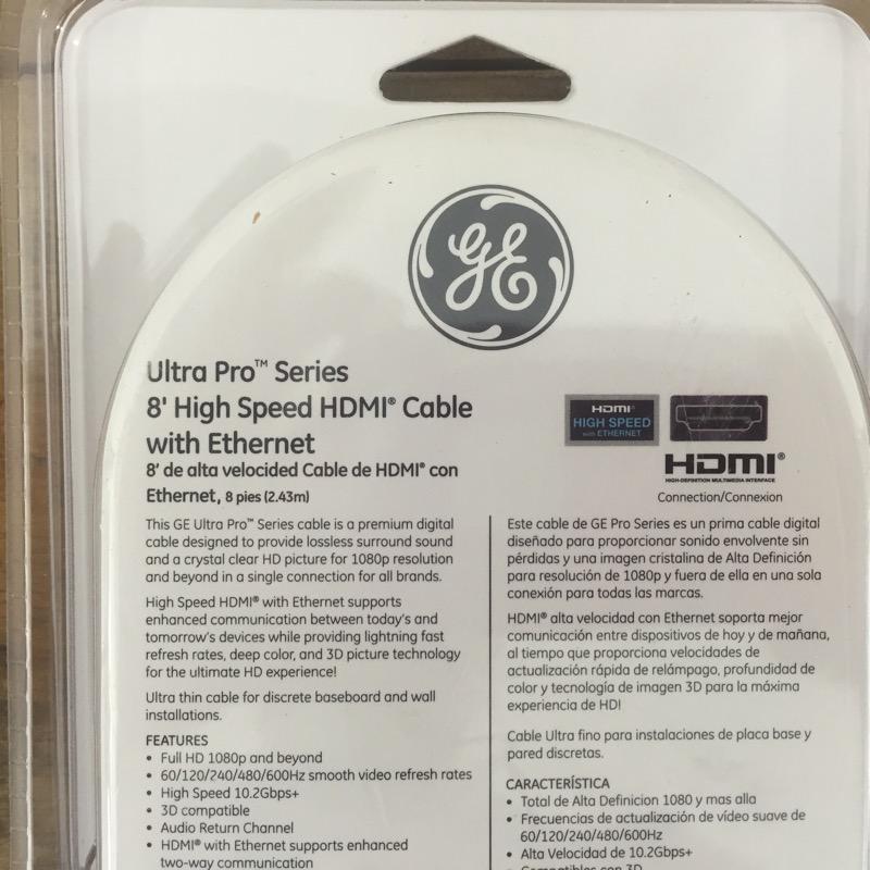 GE Home Theatre Misc. Equipment HDMI CORD