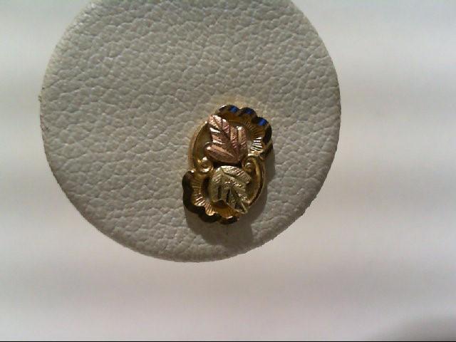 Gold Earrings 10K Tri-color Gold 0.7g