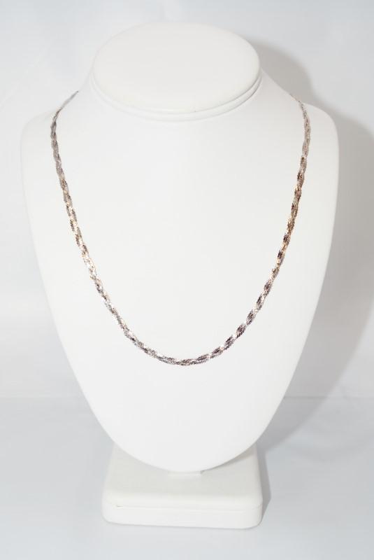 """24"""" Braided Serpentine Link Chain Necklace"""