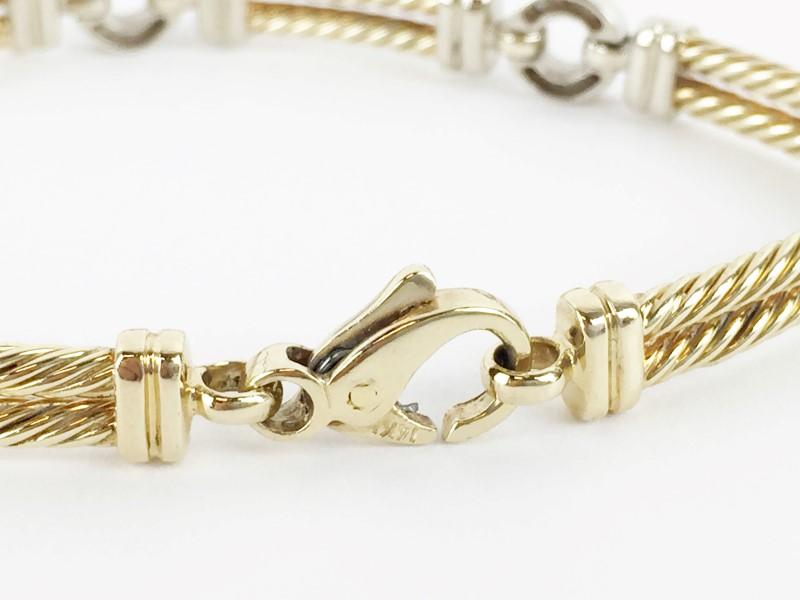 Diamond Bracelet w 30 Diamonds .30 Carat T.W. 14K Yellow Gold 27.9g