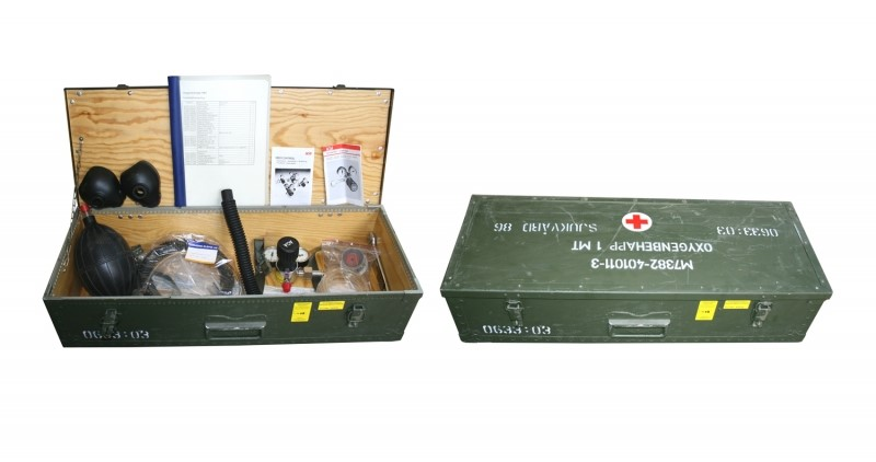 SWEDISH MEDICAL BOX WITH FULL OXYGEN KIT