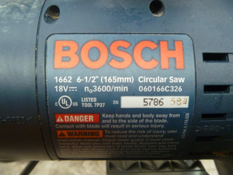 BOSCH 1662 18-VOLT 6-1/2-INCH CIRCULAR SAW KIT WITH BATTERY AND CHARGER