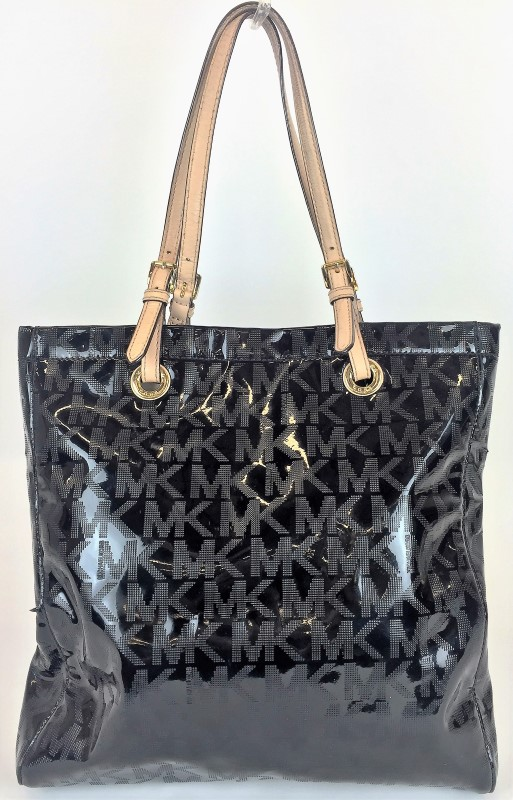 MICHAEL KORS NORTH SOUTH PATENT LEATHER TOTE