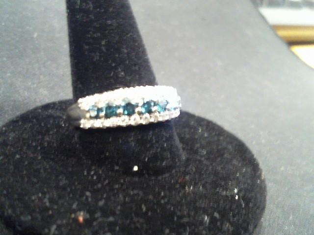 Lady's Diamond Wedding Set 33 Diamonds 1.27 Carat T.W. 10K White Gold 3g Size:6