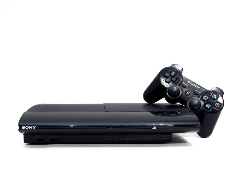 Sony Playstation 3 250GB PS3 Super Slim Video Game Console Black>