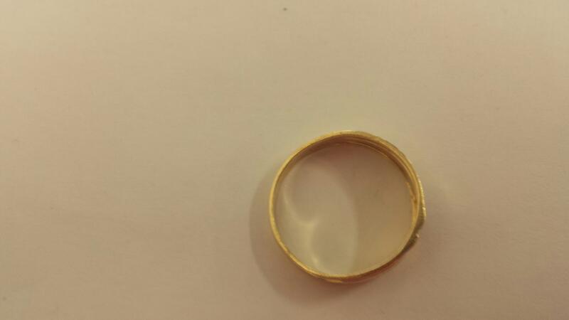 10K-Y/G Gts 3 Diamond Wedding Band Size-12