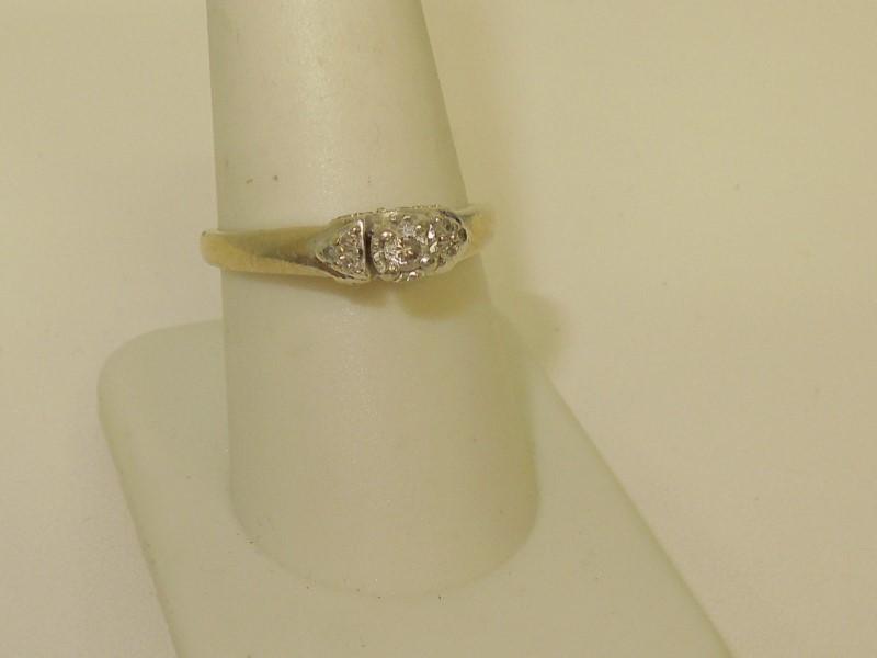 Lady's Diamond Fashion Ring 19 Diamonds .28 Carat T.W. 10K White Gold 3.4g