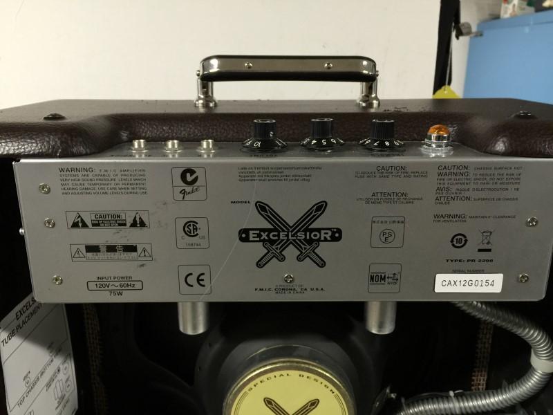 2012 FENDER SPECIAL EXCELSIOR 13-WATT TUBE GUITAR AMPLIFIER