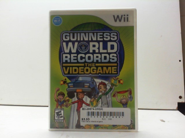NINTENDO Nintendo Wii Game GUINNESS WORLD RECORDS THE VIDEO GAME