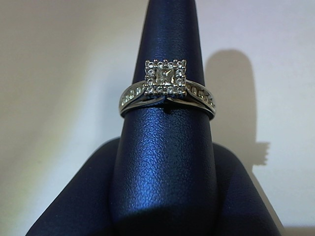 Lady's Diamond Fashion Ring 23 Diamonds .55 Carat T.W. 10K White Gold 4.3g