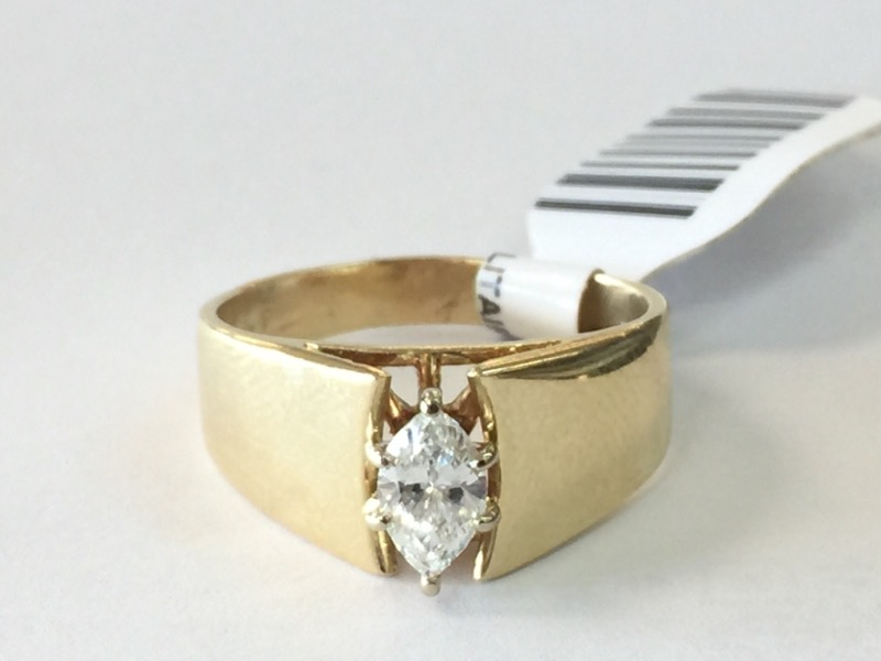 Lady's Diamond Solitaire Ring .40 CT. 14K Yellow Gold 3.8dwt Size:8.5