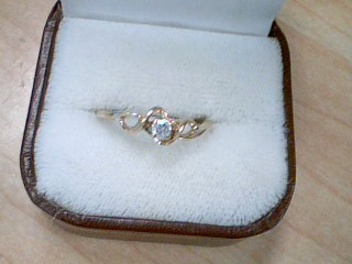 Lady's Diamond Solitaire Ring .15 CT. 10K Yellow Gold 1.9g