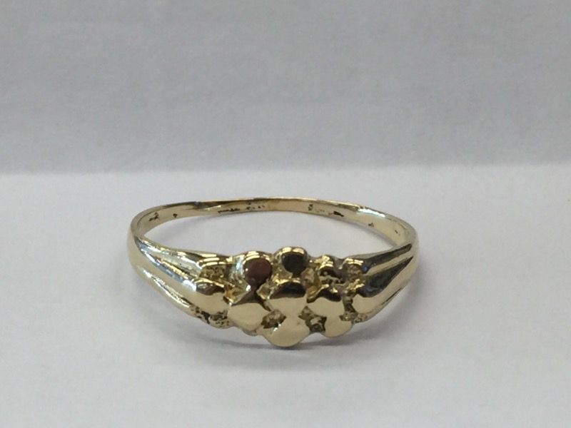 NO STONES Lady's Gold Ring 14K Yellow Gold 1.5dwt Size:10