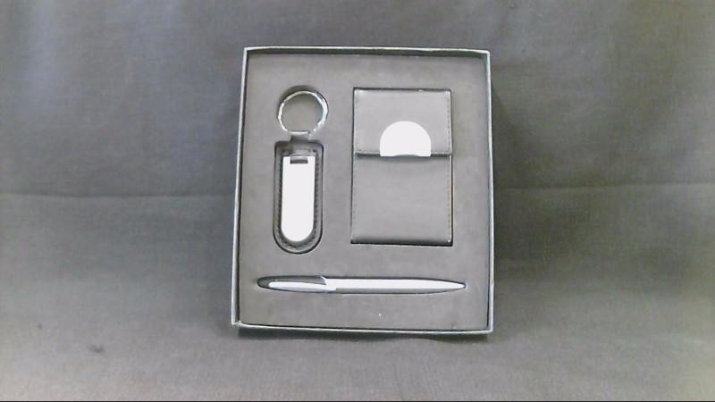 Business Card Holder Keyring and Matching Pen Set