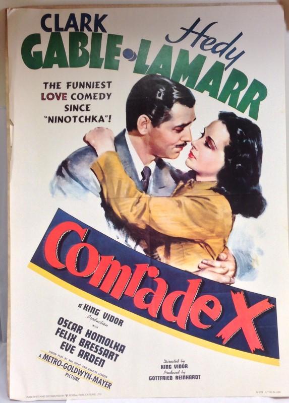COMRADE X MOVIE POSTER PORTAL PUBLICATIONS LTD