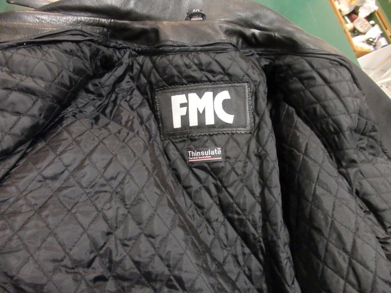 FMC ROLLING STONES TOUR LEATHER JACKET BIKER STYLE 2002/3 NEW CONDITION SIZE 40