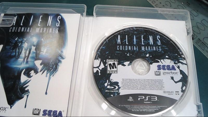 SEGA Sony PlayStation 3 Game ALIENS COLONIAL MARINES