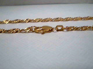 "18"" Gold Singapore Chain 21K Yellow Gold 5g"