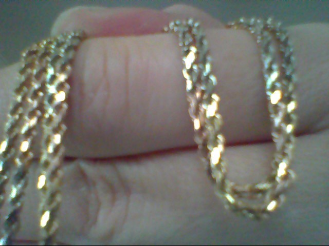 Gold Rope Chain 14K Tri-color Gold 7.4g